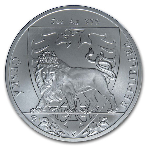 2020 Niue 5 oz Silver Czech Lion BU