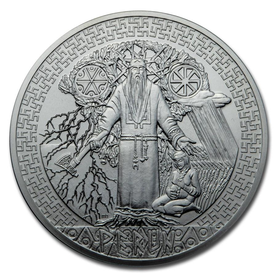 2020 Niue 5 oz Silver Universal Gods: Perun