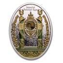 2020 Niue Silver Fabergé Eggs Empire Nephrite Egg