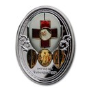 2020 Niue Silver Fabergé Eggs; Imperial Red Cross Easter Egg