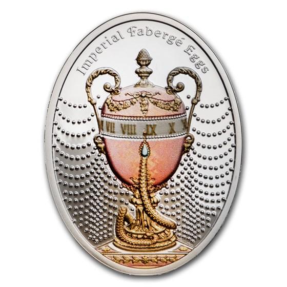 2020 Niue Silver Faberge Eggs Duchess of Marlborough Egg