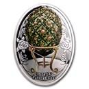2020 Niue Silver Faberge Eggs Rose Trellis Egg