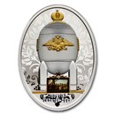 2020 Niue Silver Faberge Eggs Steel Military Egg