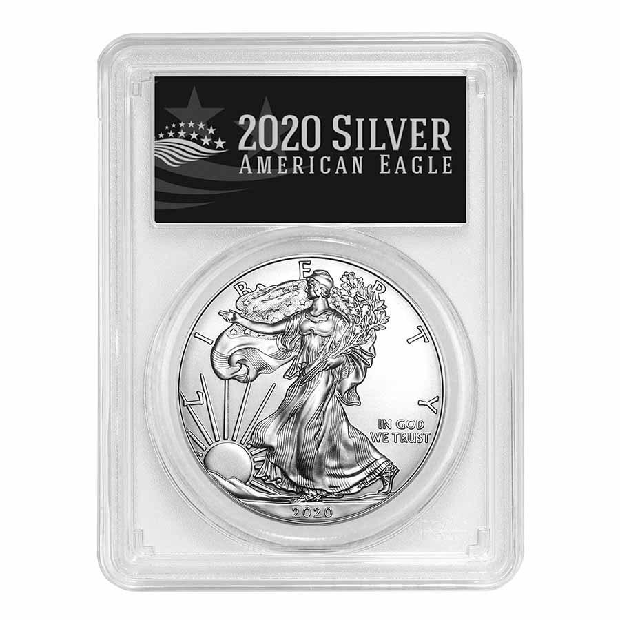 2020-(P) American Silver Eagle MS-69 PCGS (FD, Black Label)