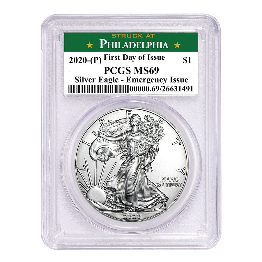 2020-(P) American Silver Eagle MS-69 PCGS (FD, Philadelphia)