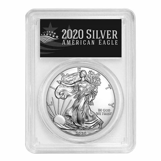 2020 (P) American Silver Eagle MS-69 PCGS (FS, Black Label)