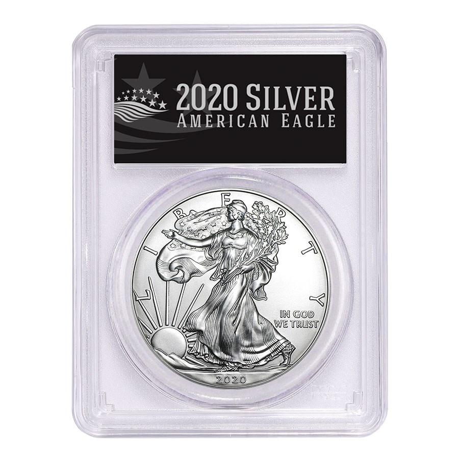 2020-(P) American Silver Eagle MS-70 PCGS (FD, Black Label)
