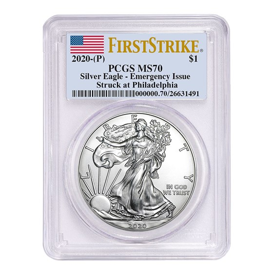 2020-(P) American Silver Eagle MS-70 PCGS (FirstStrike®)