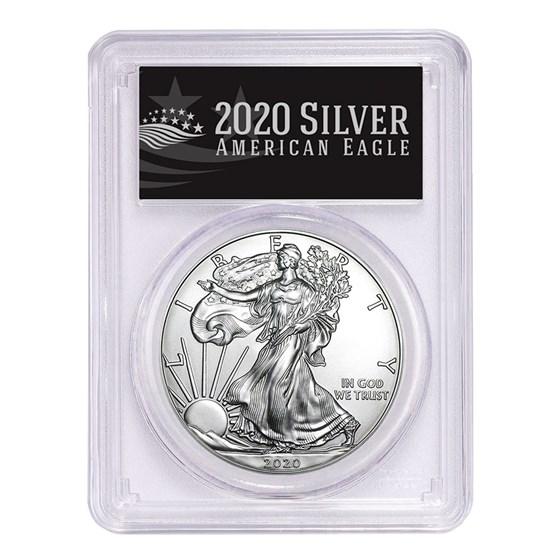 2020-(P) American Silver Eagle MS-70 PCGS (FS, Black Label)