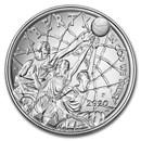 2020-P Basketball Hall of Fame $1 Silver BU (Box & COA)