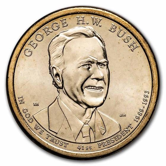 2020-P George H.W. Bush Presidential Dollar BU