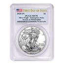 2020-(P) Silver American Eagle MS-70 PCGS (First Day of Issue)
