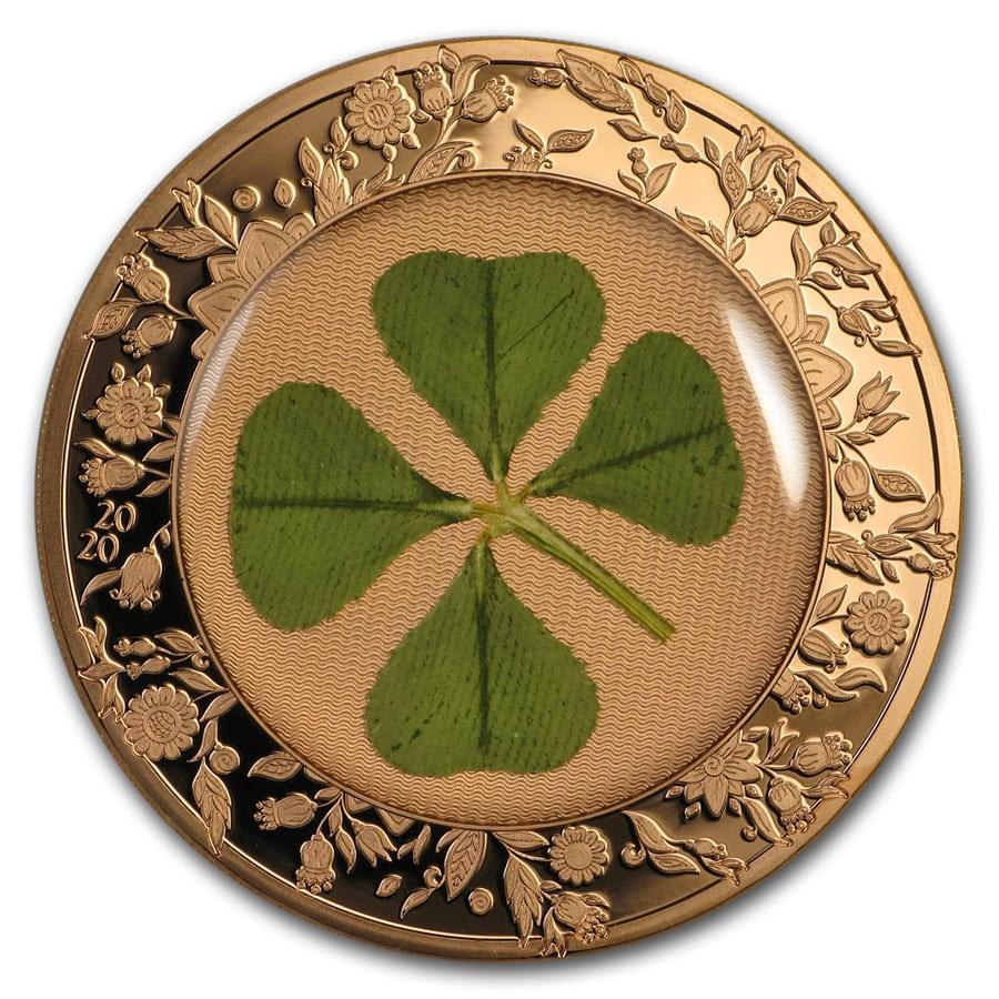 2020 Palau 1 oz Silver $5 Four-Leaf Clover Ounce of Luck Proof