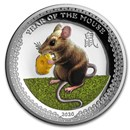 2020 Palau 1 oz Silver $5 Year of the Mouse UHR (Colorized)