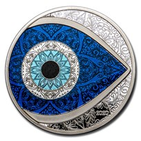 2020 Palau 1 oz Silver Evil Eye