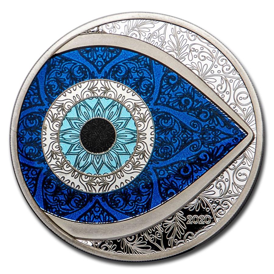 2020 Palau 1 oz Silver Evil Eye