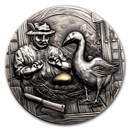 2020 Palau 2 oz Silver Antique Goose That Laid the Golden Egg