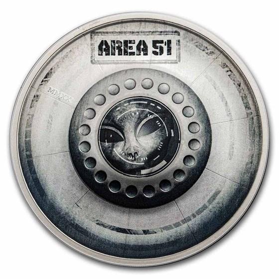 2020 Palau 2 oz Silver Great Conspiracies (Area 51)