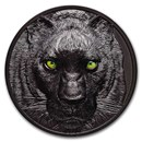 2020 Palau 2 oz Silver Hunters by Night; Black Panther