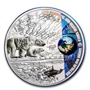 2020 Palau 2 oz Silver Proof Our Earth (Polar Ecosystems)