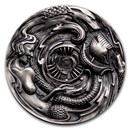 2020 Palau 3 oz Silver Epic High Relief Scylla and Charybdis