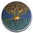2020 Palau 3 oz Silver Proof Dot Art: Tree of Life