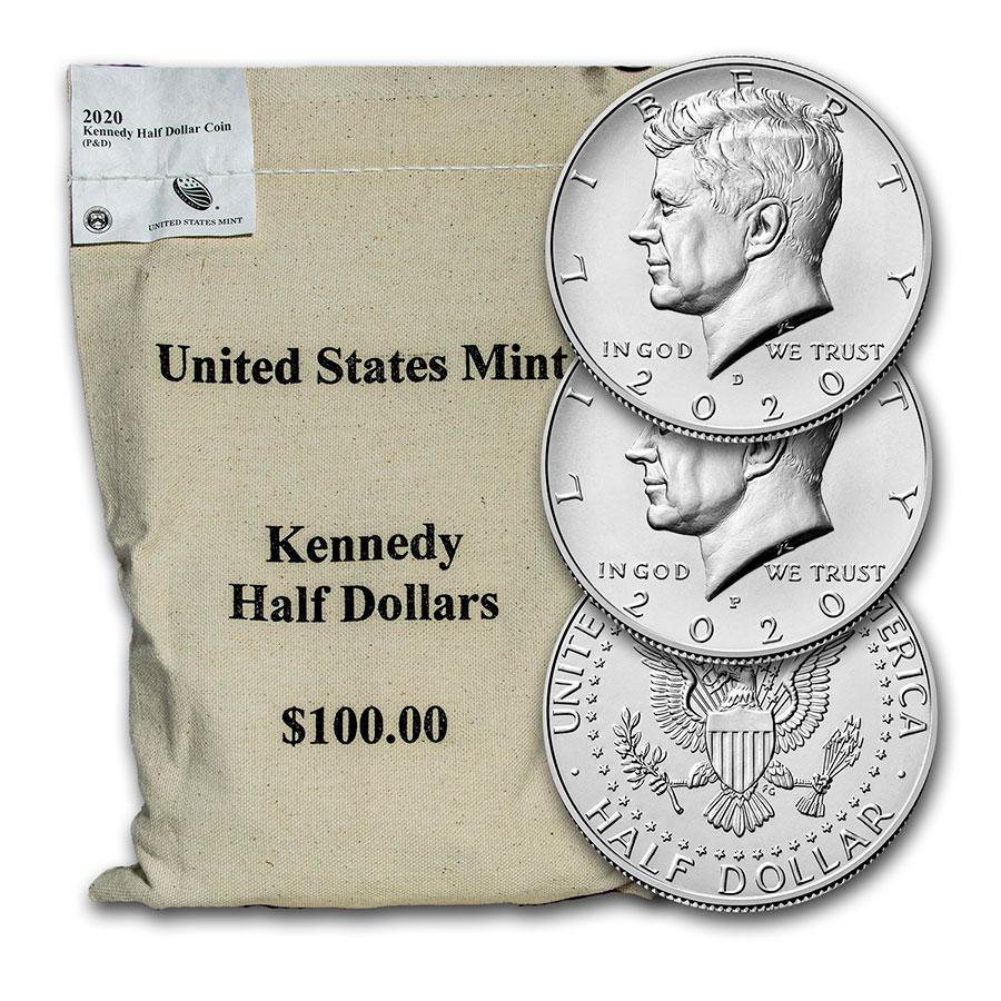 2020 P/&D Kennedy Half Dollar Uncirculated