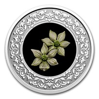 2020 RCM 1/4 oz Ag $3 Floral Emblems - BC: Pacific Dogwood