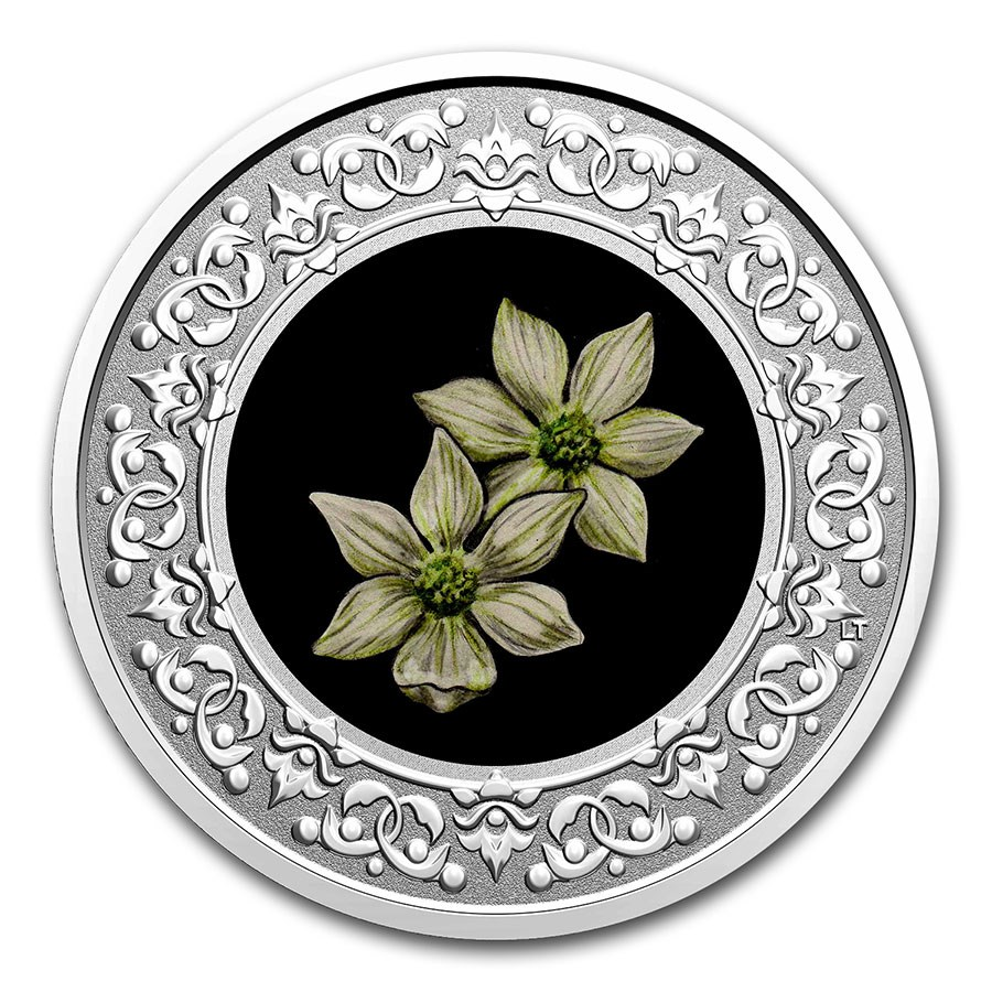 2020 RCM 1/4 oz Ag $3 Floral Emblems - BC: Pacific Dogwood