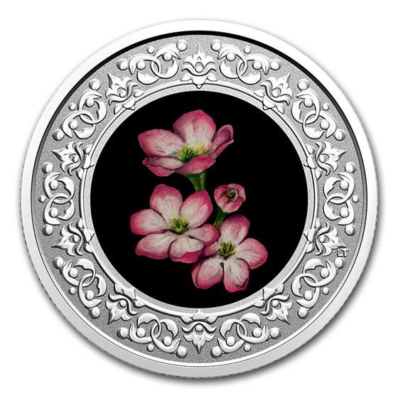 2020 RCM 1/4 oz Ag $3 Floral Emblems - Nova Scotia Mayflower