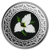2020 RCM 1/4 oz Ag $3 Floral Emblems - Ontario: White Trillium