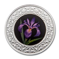 2020 RCM 1/4 oz Ag $3 Floral Emblems - Quebec: Blue Flag Iris