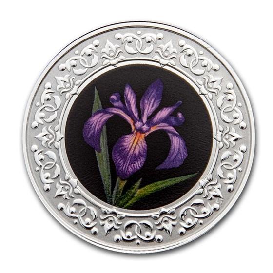 2020 RCM 1/4 oz Ag $3 Floral Emblems - Quebec: Blue Flag Iris