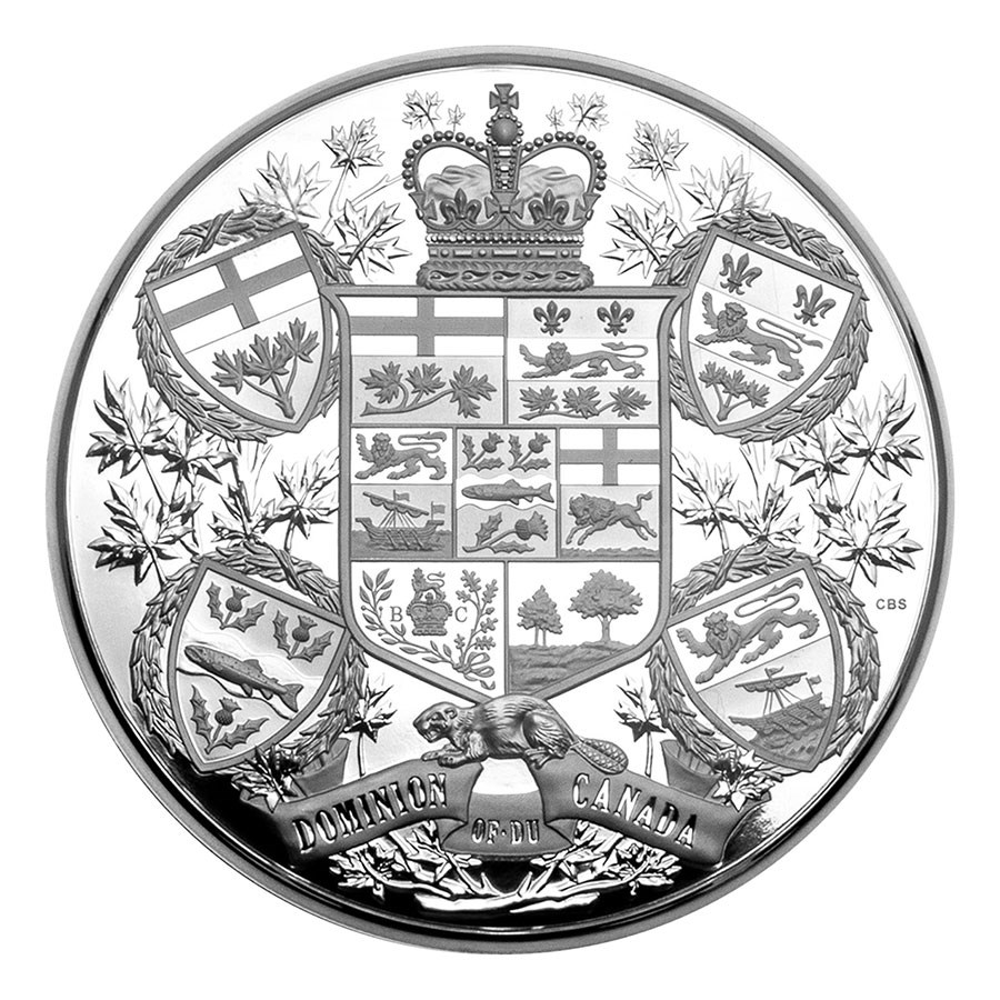 2020 RCM 1 Kilo Silver $250 Reimagined 1905 Arms of Dom of Canada