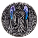 2020 Rep. of Cameroon 2 oz Antique Silver Archangel Gabriel