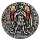 2020 Rep. of Cameroon 2 oz Antique Silver Archangel Michael