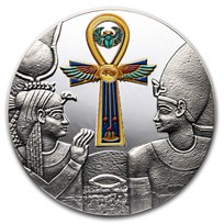 2020 Republic of Cameroon 1 oz Silver Antique Egyptian Ankh