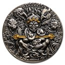 2020 Republic of Cameroon 2 oz Antique Silver Mahakala