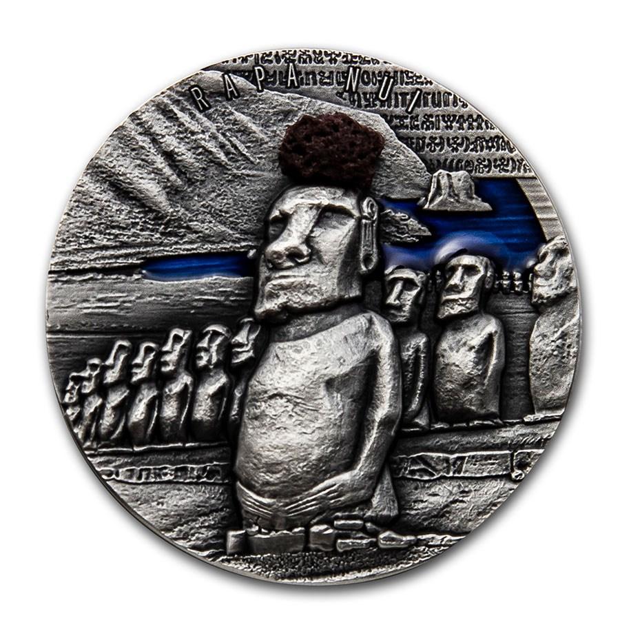 2020 Republic of Cameroon 2 oz Silver Easter Island: Rapa Nui