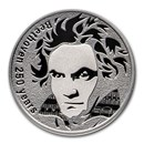 2020 Republic of Cameroon Silver Beethoven 250th Anniversary