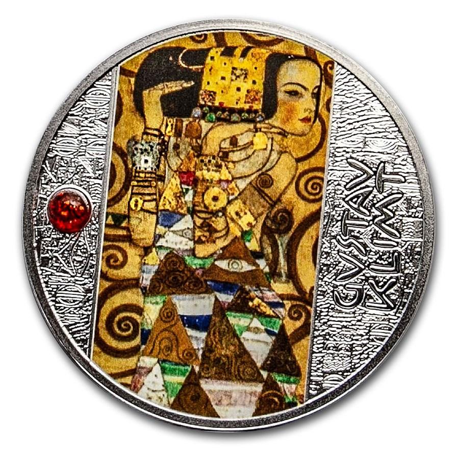 2020 Republic of Cameroon Silver Gustav Klimt; Expectation