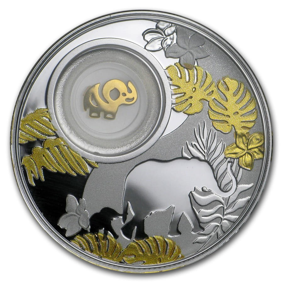2020 Republic of Cameroon Silver Proof Lucky Elephant Coin