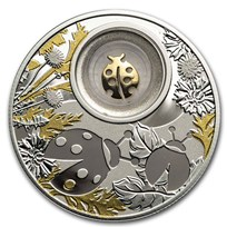 2020 Republic of Cameroon Silver Proof Lucky Ladybug Coin