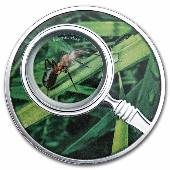 2020 Republic of Cameroon Silver Proof The Secret Garden Ant