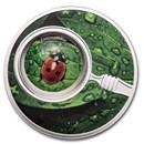 2020 Republic of Cameroon Silver Proof The Secret Garden Ladybug