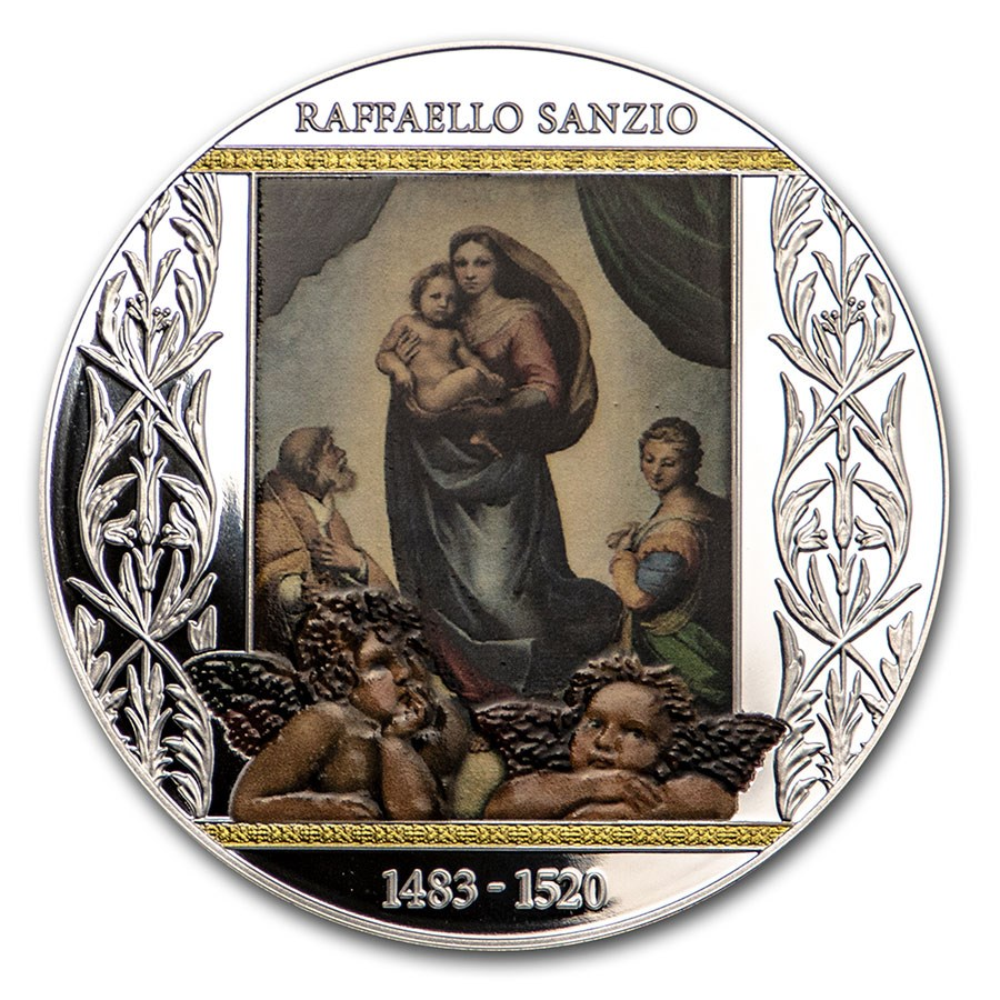 2020 Republic of Cameroon Silver Sistine Madonna