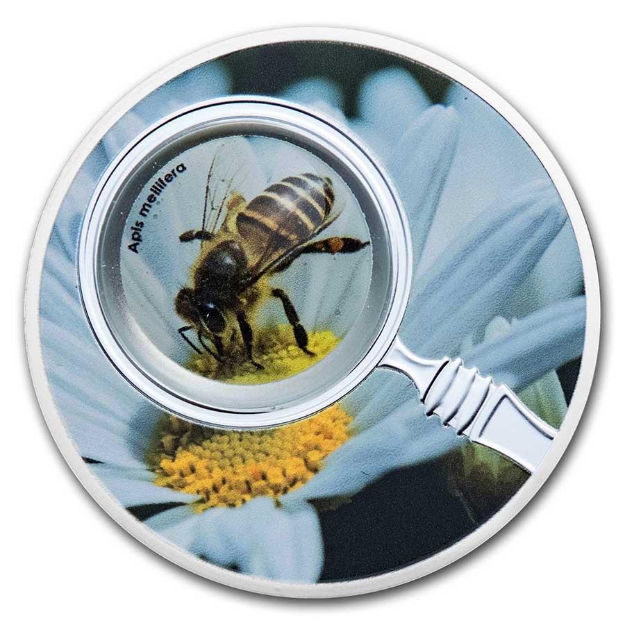 2020 Republic of Cameroon Silver The Secret Garden Honey Bee