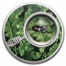 2020 Republic of Cameroon Silver The Secret Garden Stag Beetle