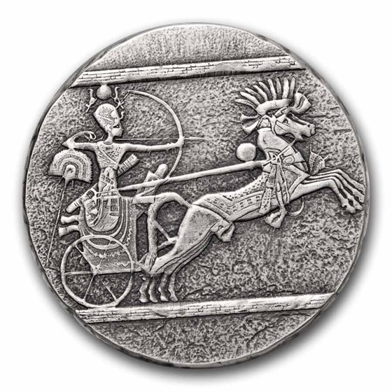 2020 Republic of Chad 5 oz Silver Chariot of War