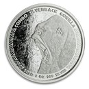 2020 Republic of Congo 1 oz Silver Silverback Gorilla (Prooflike)